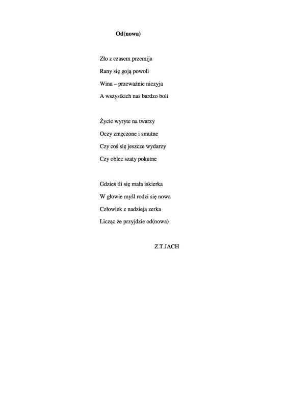 Wiersze Zbigniewa Teofila Jacha 6 Z Okazji Dnia Babci I