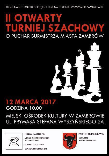 TURNIEJ SZACHOWY 2017 plakat